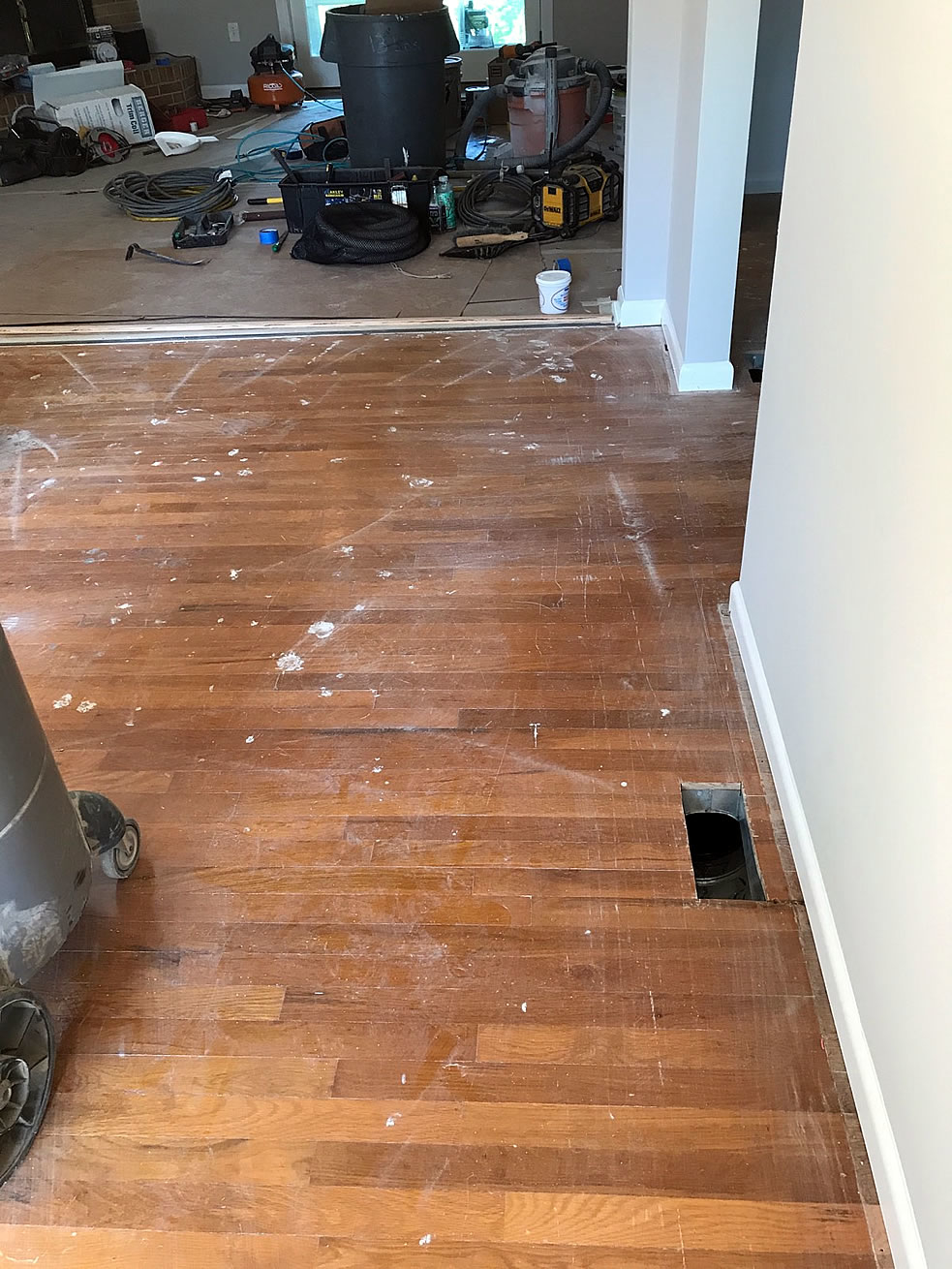Hardwood Floors Before