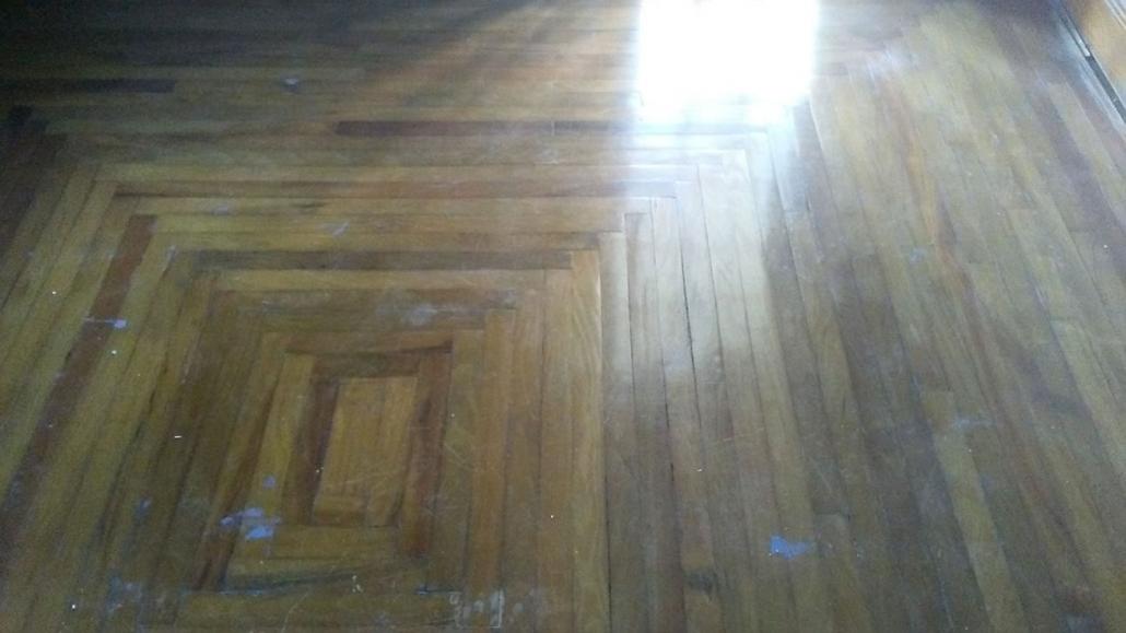 Before Refinishing Floors
