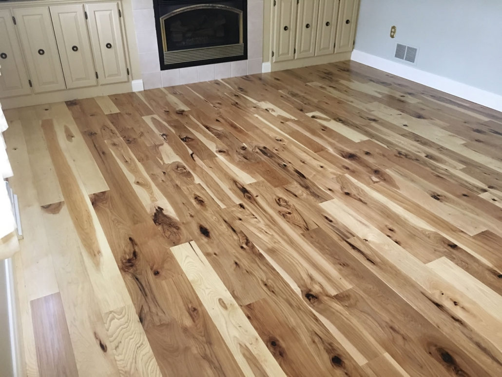 Rustic Hickory Flooring finished