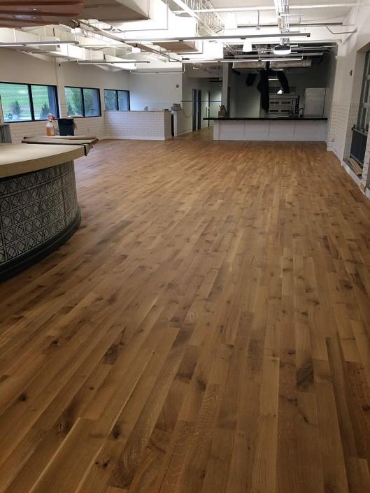 hardwood floor Troegs brewery project