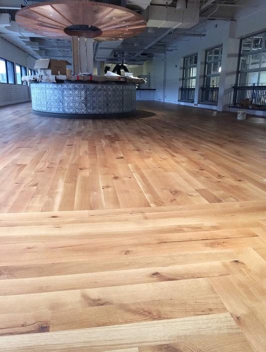 hardwood floor Troegs brewery