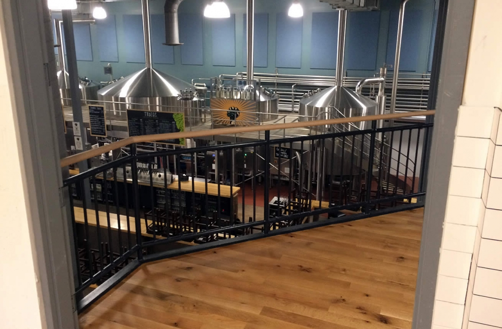 hardwood stairs Troegs brewery project