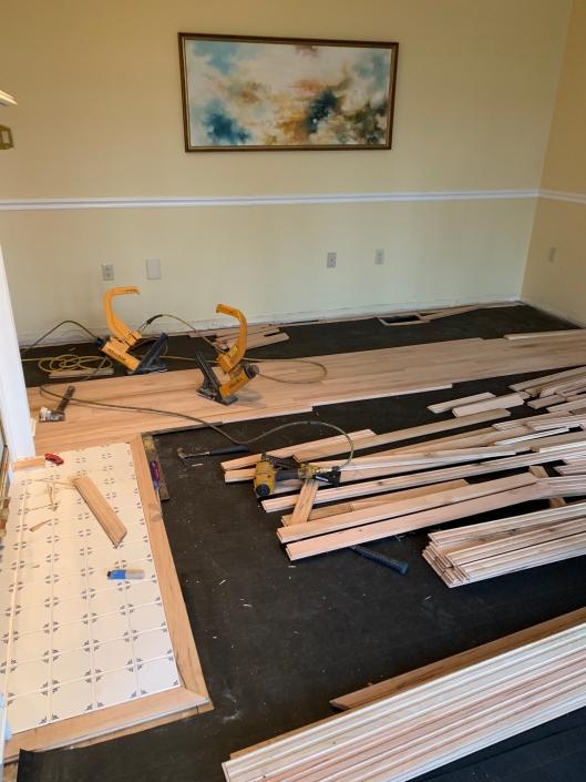 Hardwood Flooring Going In